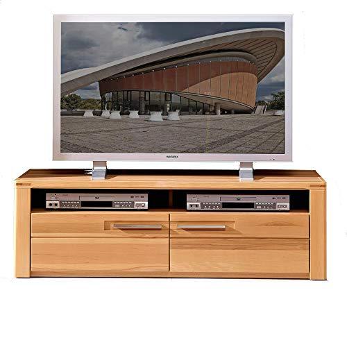 Nature Plus TV-Board teil-massiv aus Kernbuchenholz - hochwertiges Low-Board für Ihr Wohnzimmer - 130 x 40 x 45 cm (B/H/T)